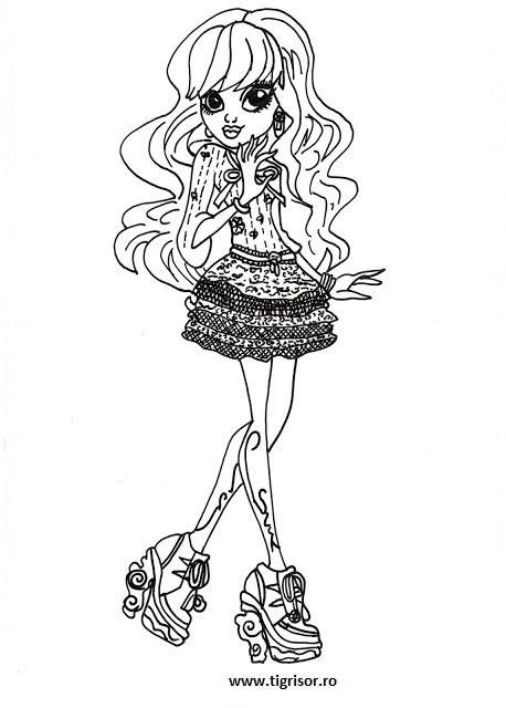 Plansa De Colorat Cu Twyla Din Monster High 13 Dorinte