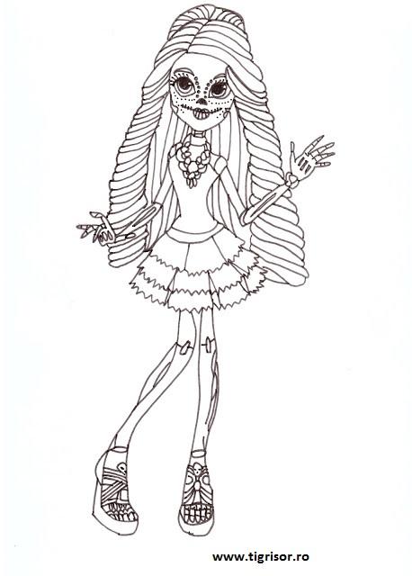 Plansa De Colorat Cu Skelita Cavaleras Din Monster High