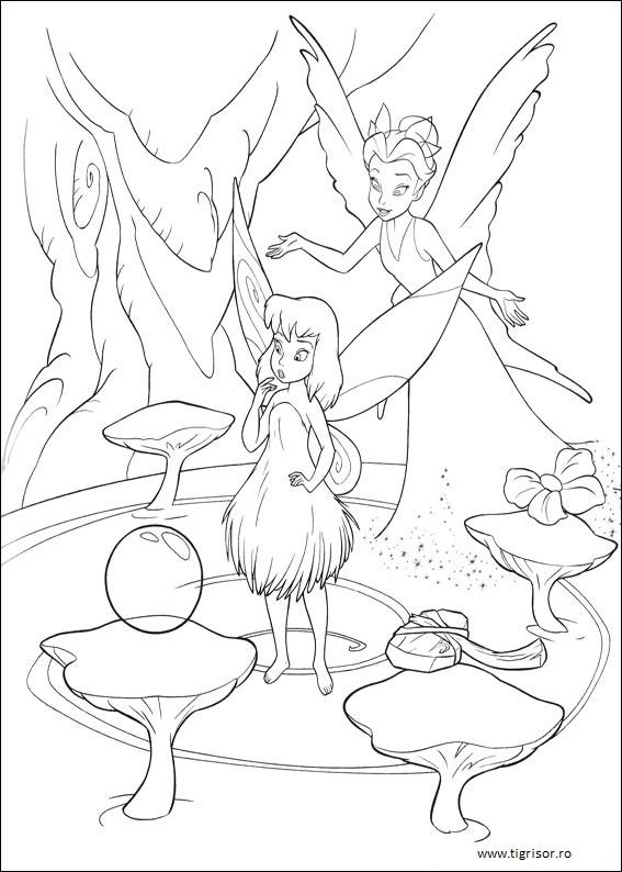 Tinker Bell Clopotica Poveste Cu Planse De Colorat