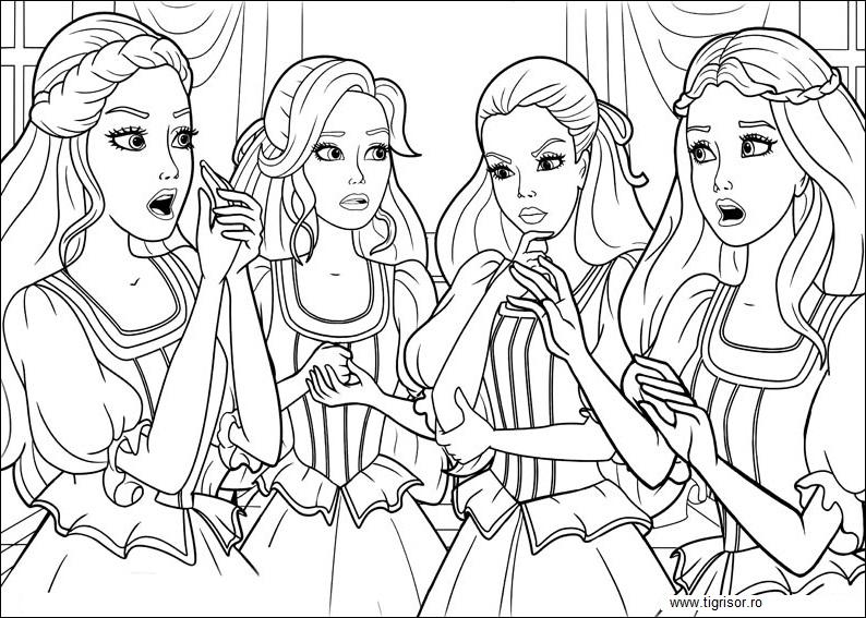barbie si cei trei muschetari  plansa de colorat 14
